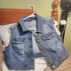 Highway Jeans Denim crop vest